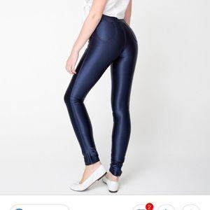 NWOT American Apparel Navy Disco Pant S